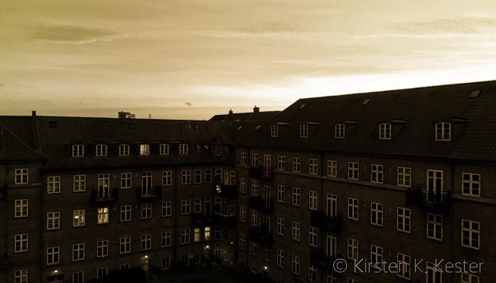 residential block w. yellow sky © 2knald.com | Kirsten K. Kester